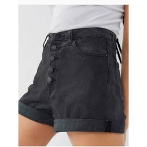 BDG Urban Outfitters Black High-Rise Mom Short 27